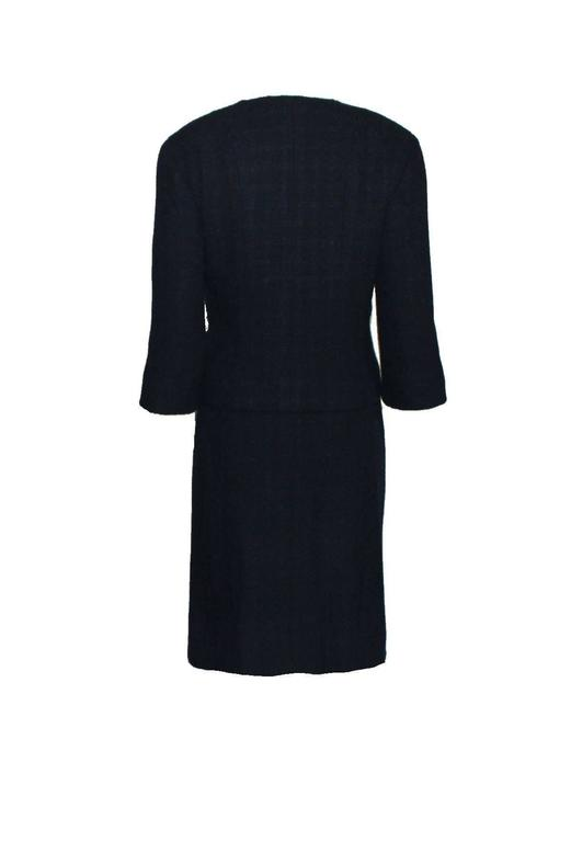 Timeless Midnight Blue Chanel Tweed Skirt Suit 3