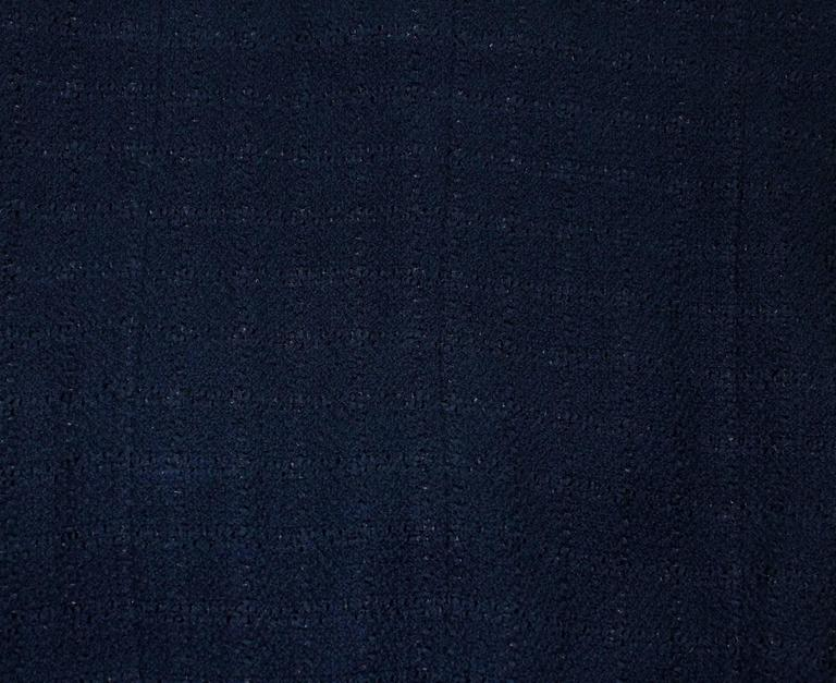 Timeless Midnight Blue Chanel Tweed Skirt Suit 6