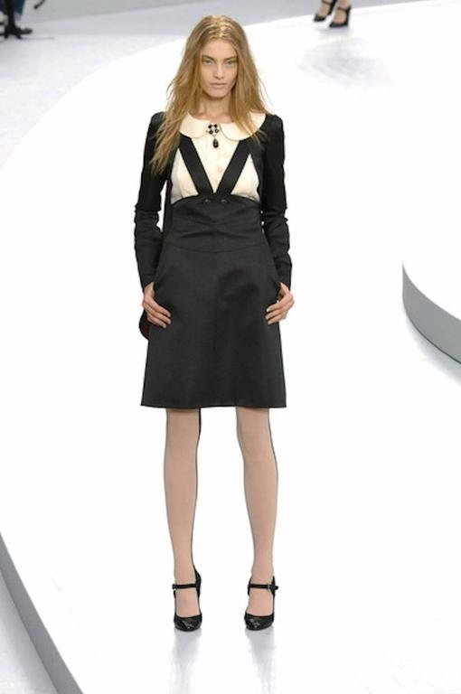 Gorgeous Chanel Black Silk Dress & Coat Suit Ensemble 8