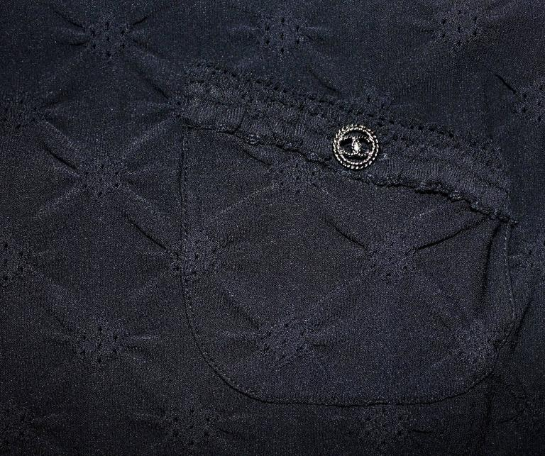 Chanel 3D Crochet Knit Black Dress LBD  In New Never_worn Condition For Sale In Switzerland, CH