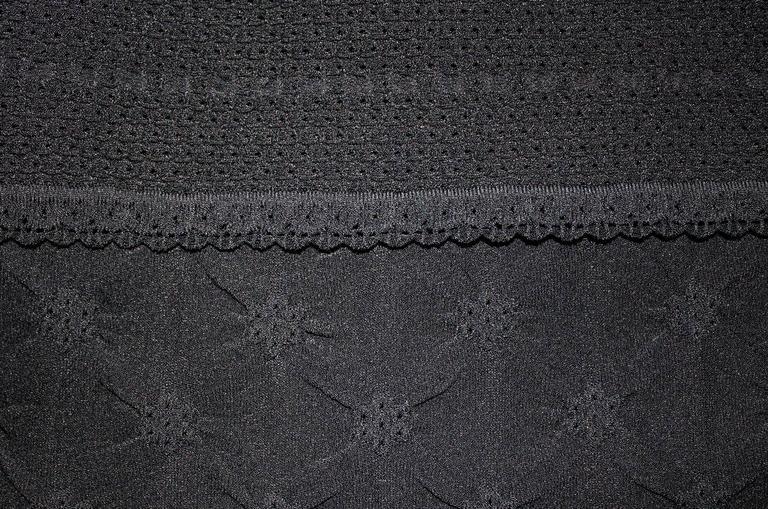 Chanel 3D Crochet Knit Black Dress LBD  For Sale 1