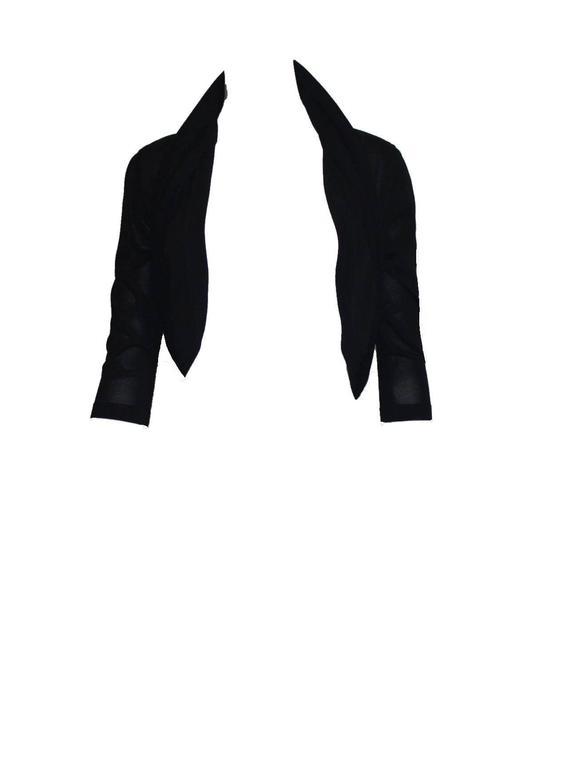 Timeless Chanel Black Maxi Dress with Bolero Cardigan  For Sale 1