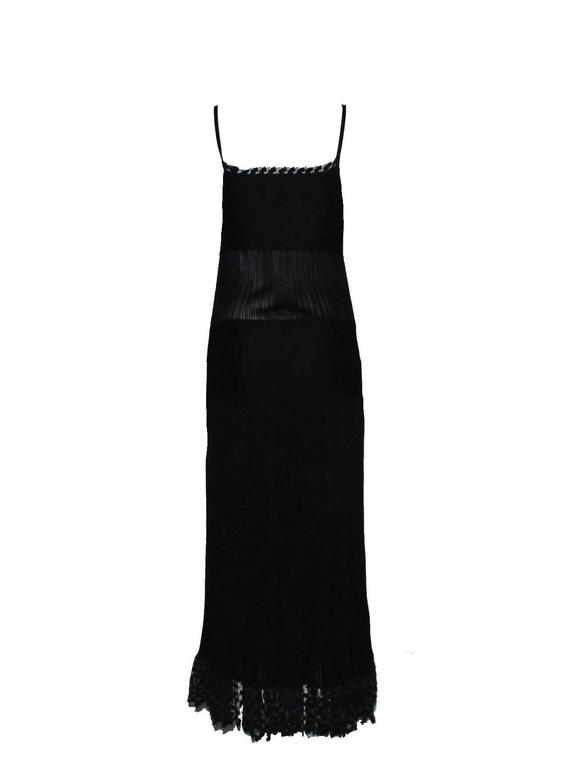 Timeless Chanel Black Maxi Dress with Bolero Cardigan  2