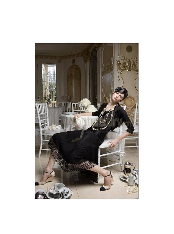 Timeless Chanel Black Maxi Dress with Bolero Cardigan  For Sale 2