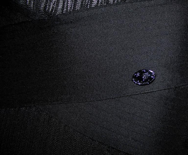 Women's Timeless Chanel Black Maxi Dress with Bolero Cardigan  For Sale
