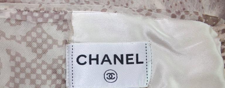 Gorgeous Chanel Silk Chiffon CC Logo Cocktail Dress with Camellia brooch 6