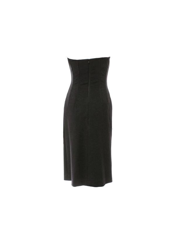 Black Dolce & Gabbana Hourglass Boned Corset Lace Up Dress LBD 3