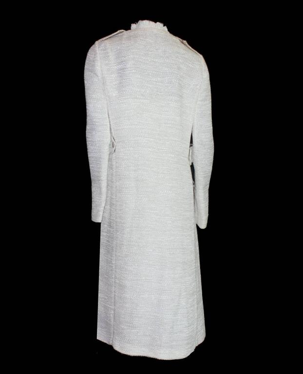 Women's Dolce Gabbana Woven Boned Corset Dress & Coat Frayed Python Trimming For Sale