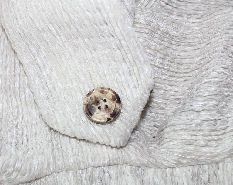 Dolce Gabbana Woven Boned Corset Dress & Coat Frayed Python Trimming For Sale 1