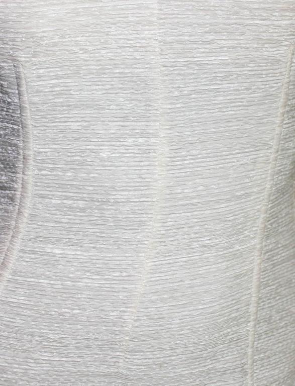Dolce Gabbana Woven Boned Corset Dress & Coat Frayed Python Trimming For Sale 2