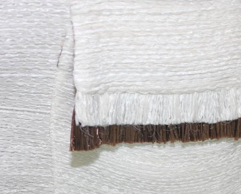Dolce Gabbana Woven Boned Corset Dress & Coat Frayed Python Trimming For Sale 4