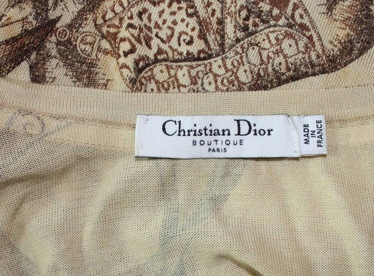 Beautiful Christian Dior by John Galliano Cashmere Silk Logo Cardigan Twin Set 5