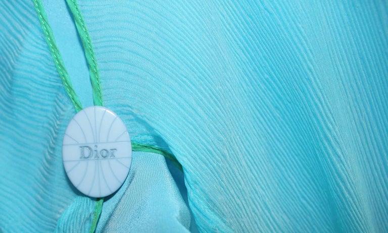 Beautiful Christian Dior by John Galliano Seafoam Silk Chiffon Dress  4