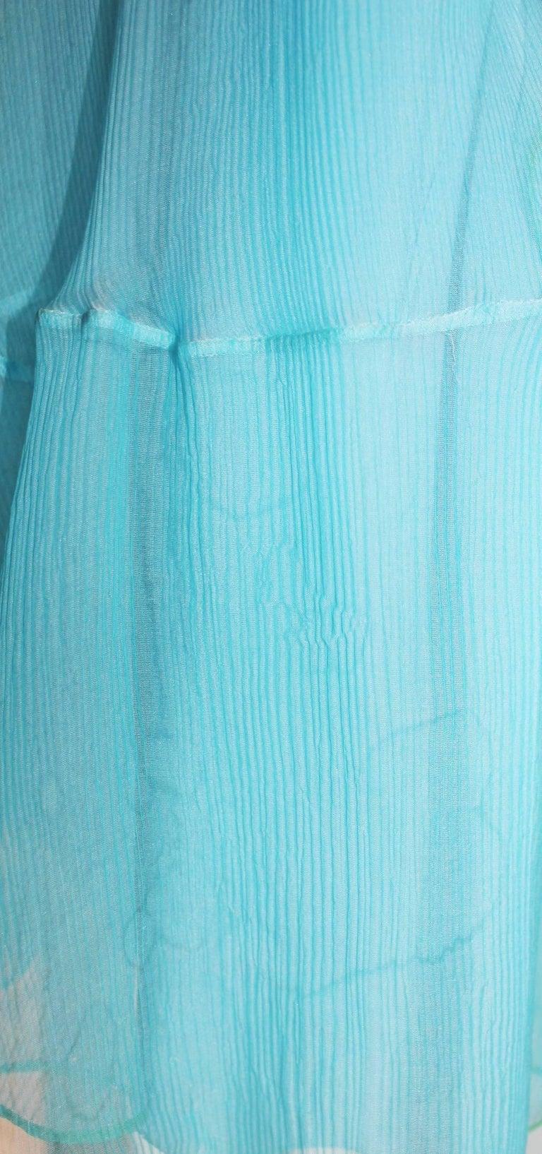 Beautiful Christian Dior by John Galliano Seafoam Silk Chiffon Dress  6