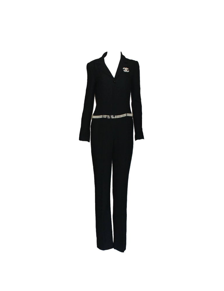 Beautiful CHANEL overall     A true CHANEL signature item that will last you for many years     One of the most iconic CHANEL pieces created     Closes in front with deep zip, can be worn closed or slightly open for a sexy look     Finest black