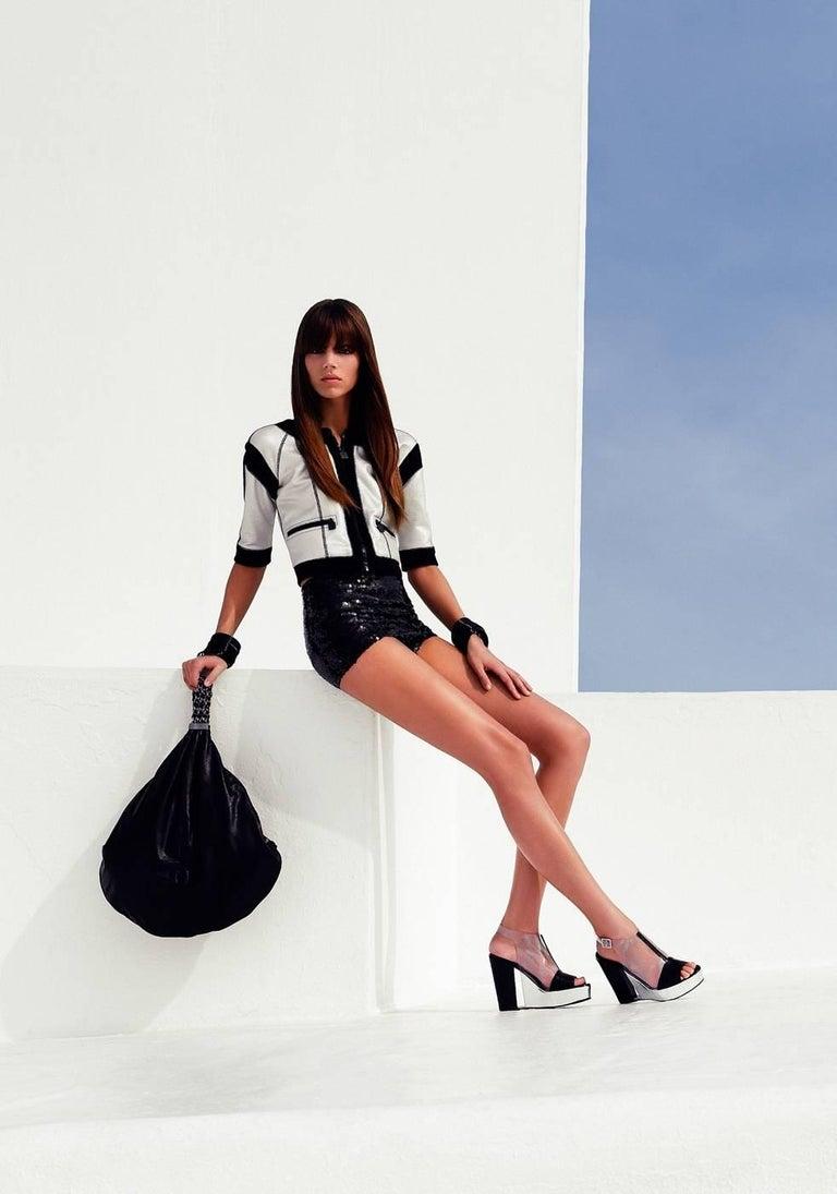 Chanel Black Sequins Hot Pants Shorts 6