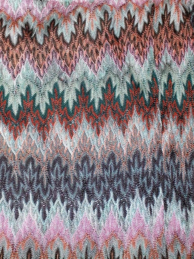 Missoni Signature Zigzag Crochet Knit Open Back Jumpsuit with Belt ...