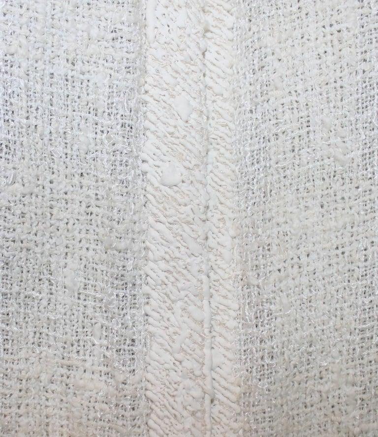 Stunning Chanel Ivory Tweed Jacket High Waist Skirt Suit ...