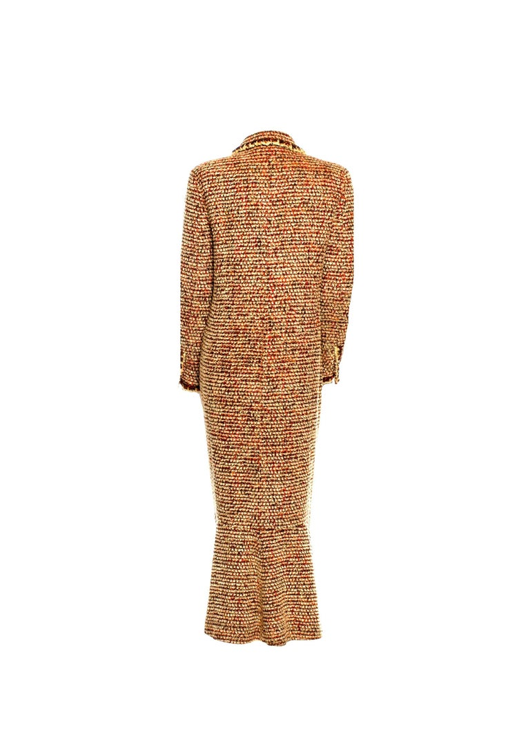 Brown Gorgeous Chanel Fantasy Tweed Coat  For Sale