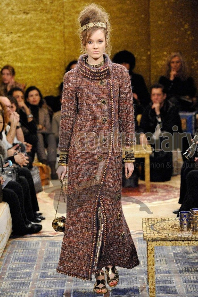 Gorgeous Chanel Fantasy Tweed Coat  For Sale 2