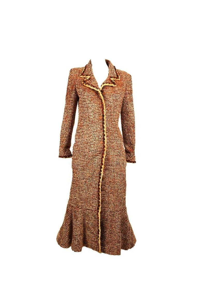 Gorgeous Chanel Fantasy Tweed Coat  In Excellent Condition For Sale In Switzerland, CH
