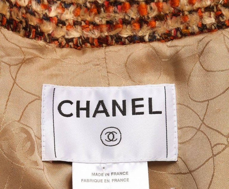 Gorgeous Chanel Fantasy Tweed Coat  For Sale 1