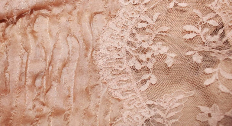 Stunning Versace Blush Nude Medusa Lace & Silk Corset Dress For Sale 1