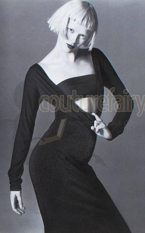 Gianni Versace Couture Lurex Cutout Gown FW 1997  For Sale 3