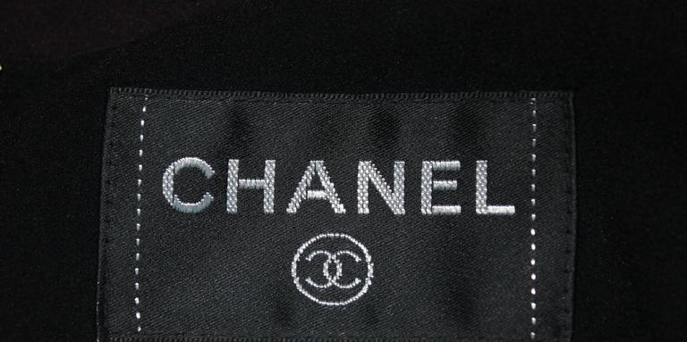 Amazing Chanel  Silk Chiffon CC Logo Print Dress 8