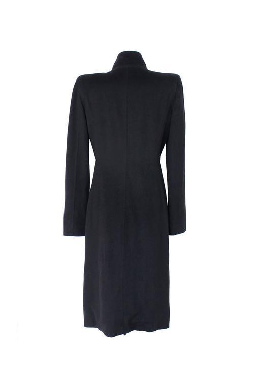 Amazing Yves Saint Laurent Rive Gauche by Tom Ford Black Ruffle Coat 2