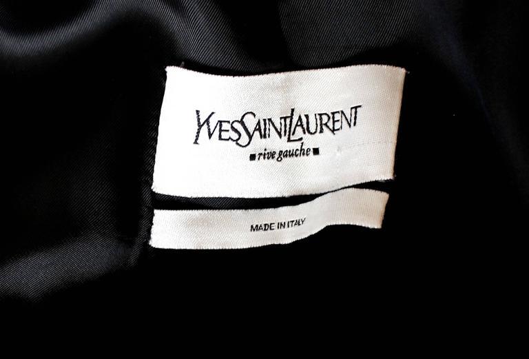 Amazing Yves Saint Laurent Rive Gauche by Tom Ford Black Ruffle Coat 3