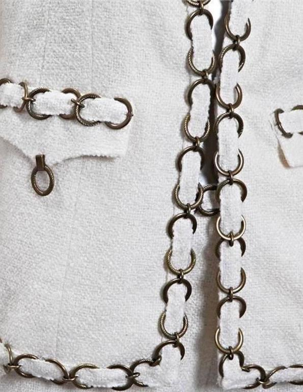 CHANEL Maison Lesage Silk Chain Trouser Pant Suit 4