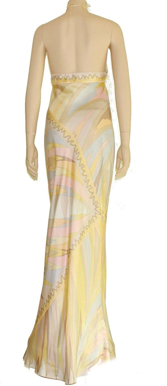 Stunning Emilio Pucci Signature Print Evening Dress Gown ...