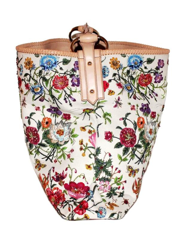 Gucci Tom Ford Limited Flora Beaded Embroidered Horsebit Bag - Museum Piece 2