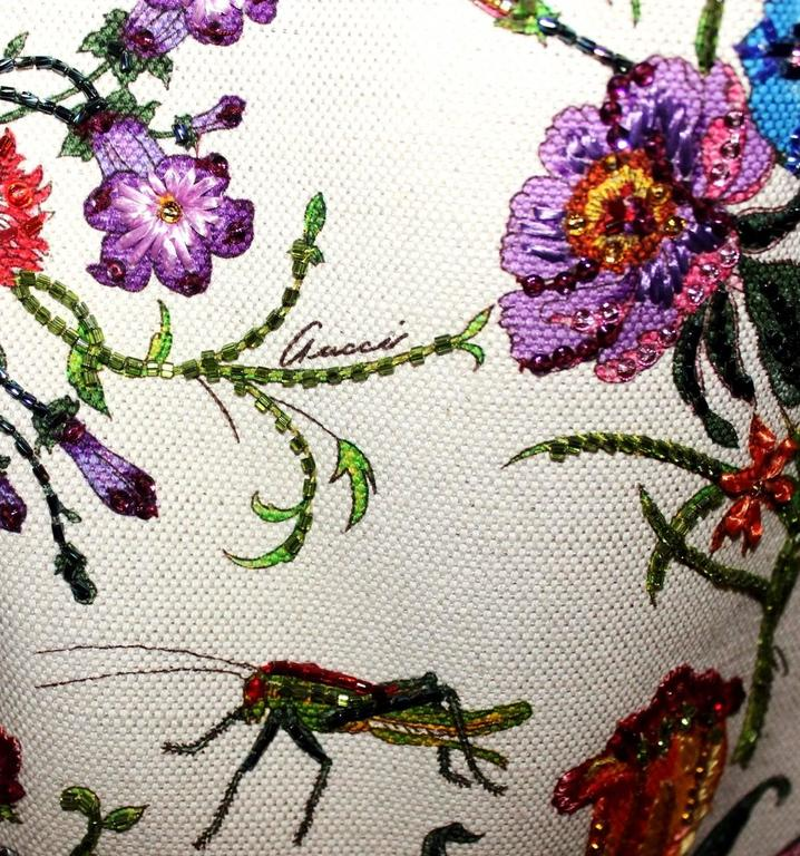 Gucci Tom Ford Limited Flora Beaded Embroidered Horsebit Bag - Museum Piece 4