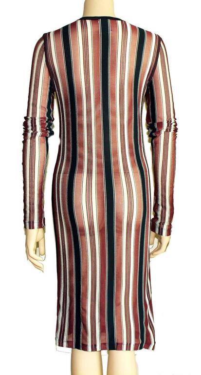 Classic Chanel Striped Blue White Red Maritime Knit Dress 3