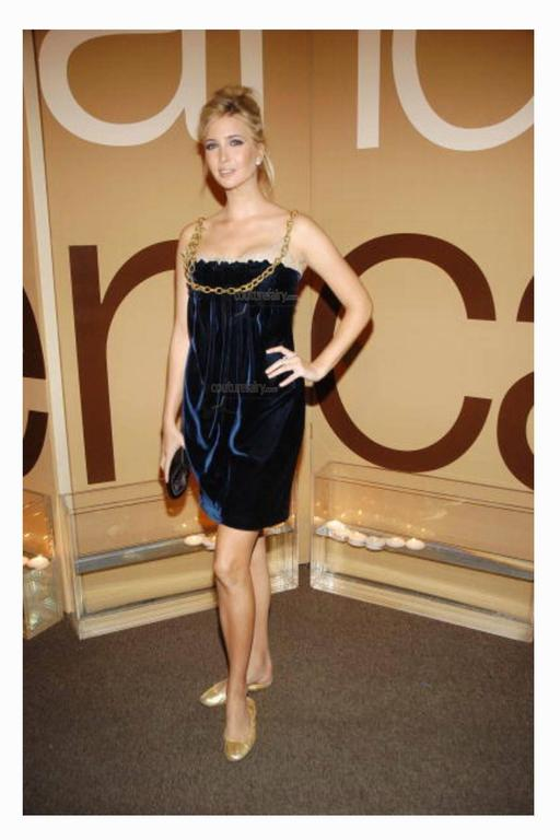 Stunning Dolce & Gabbana Midnight Blue Velvet Chain Empire Dress 9