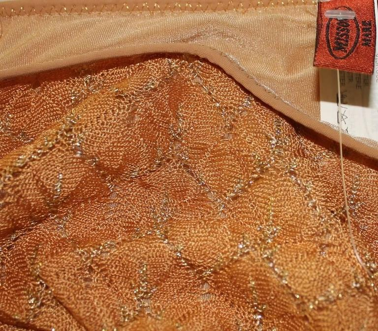 Missoni Crochet Knit Golden Thread Lurex Bikini In New Condition In Switzerland, CH