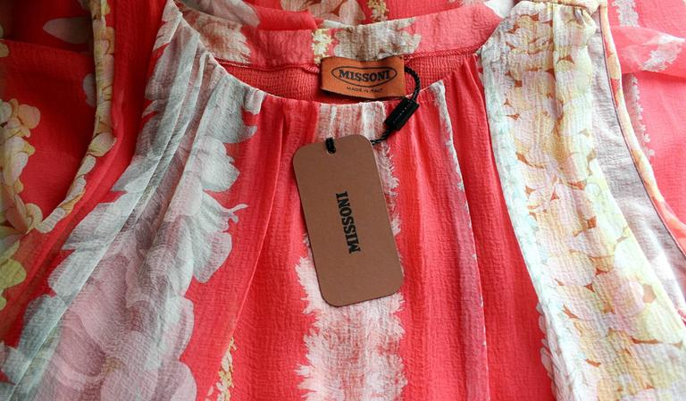 Missoni Floral Silk Dress with Embroidered Belt 4