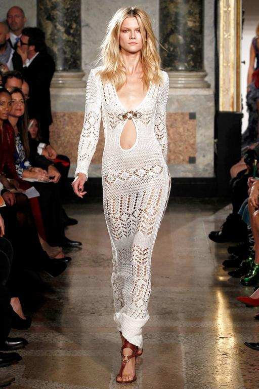 Gorgeous Emilio Pucci Crochet Knit Evening Gown For Sale 4