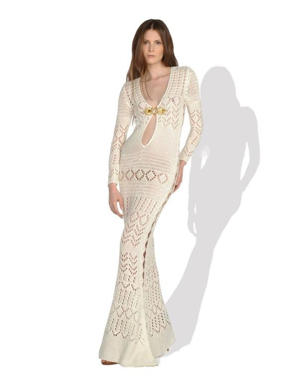Gorgeous Emilio Pucci Crochet Knit Evening Gown For Sale 3