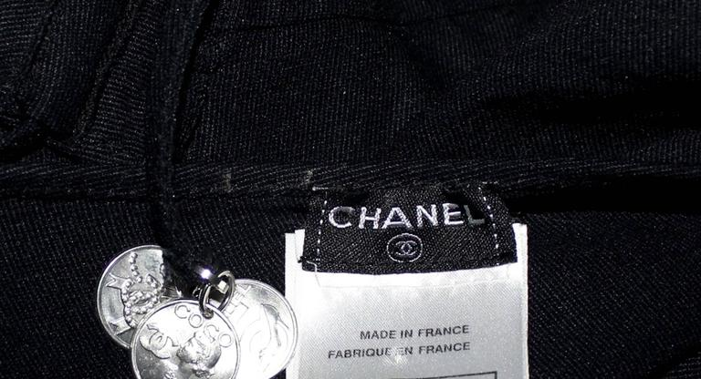 Chanel Black Neckholder Swimsuit with Coco Coin Details Bodysuit In New Condition For Sale In Switzerland, CH