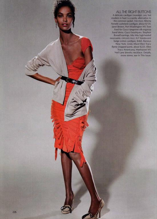 Gucci Tom Ford Spring 2004 Tangerine Frayed Silk Organza Dress For Sale 4