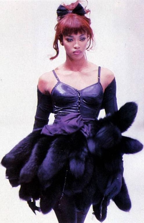 Amazing 1989 Documented Black Dolce & Gabbana Corset Top For Sale 3