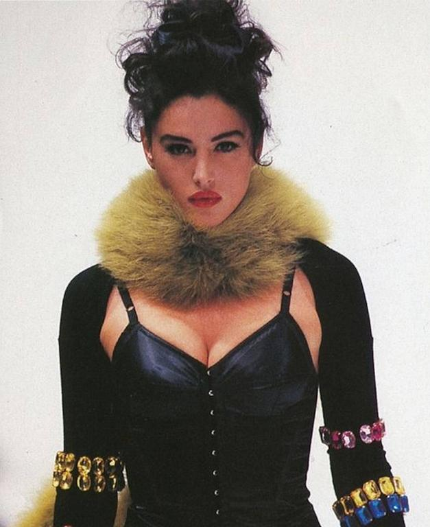 Amazing 1989 Documented Black Dolce & Gabbana Corset Top For Sale 2
