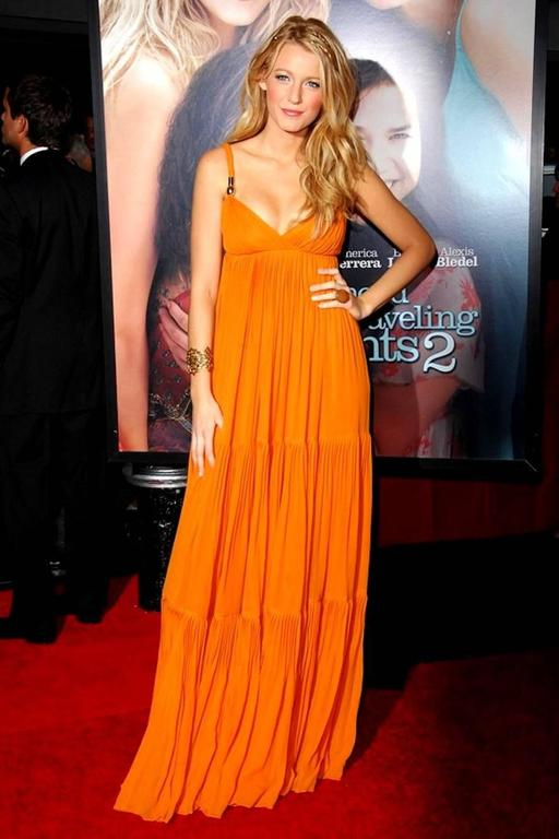 Blake's Stunning Gucci Plissee Evening Gown Dress 6