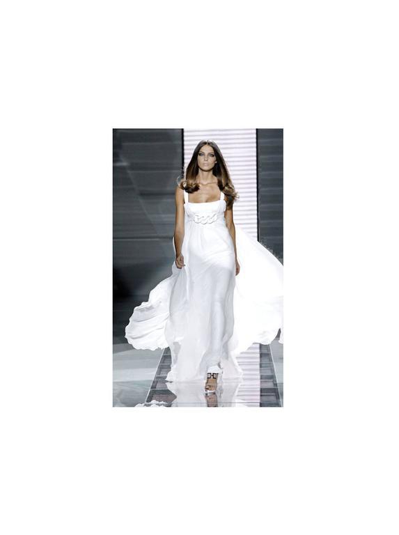 Stunning Versace Silk Evening Dress Wedding Gown 9