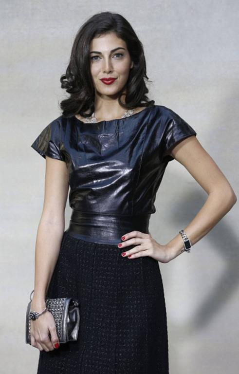 Stunning Chanel Black Leather & Tweed Dress  4
