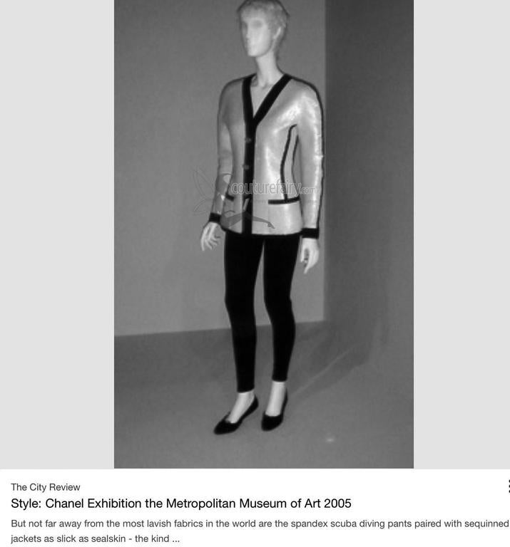 Rare Museum Piece 1990s Chanel Sequin Jacket shown at Met Museum 2005 Exhibition For Sale 5