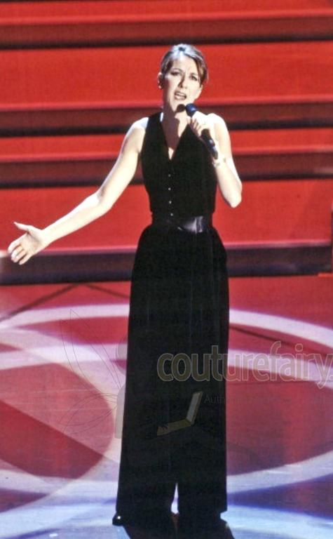Fabulous Black Chanel Velvet Jumpsuit as seen on Celine Dion  7